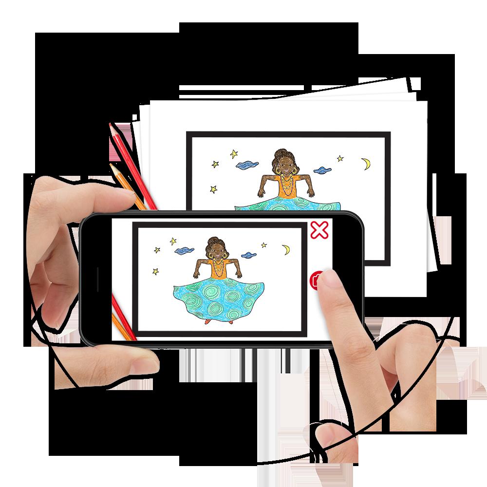 Appli coloriage gratuite Wakatoon | Disponible sur iOs et